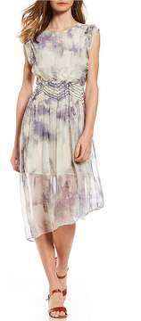 Chelsea & Violet Tie-Dye Ruffle Dress