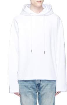 Helmut Lang 'Austria' patch cutout sleeve hoodie