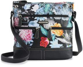 Co Stone & Floral Super Pebbled Leather Crossbody