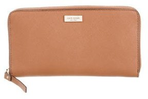 Kate Spade Leather Zip Wallet w/ Tags - BROWN - STYLE