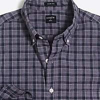 J.Crew Factory Slim heather washed plaid shirt