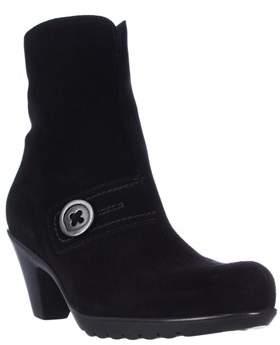 La Canadienne Dorthea Button Winter Ankle Boots, Black.