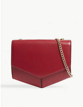 Sandro Rouge Cerise Red Lou Leather Shoulder Bag