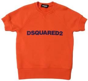 DSQUARED2 Logo Cotton Short Sleeve Sweatshirt