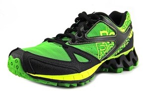 Reebok Zigkick Trail 1.0 Youth Round Toe Synthetic Green Trail Running.