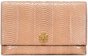 Tory Burch KIRA SNAKE CLUTCH - PERFECT SAND - STYLE