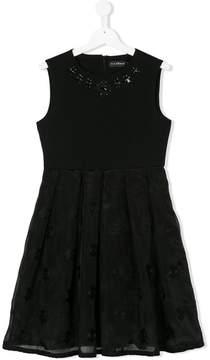 John Richmond Kids TEEN embroidered skirt sleeveless dress