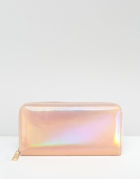New Look Holographic Zip Around Purse