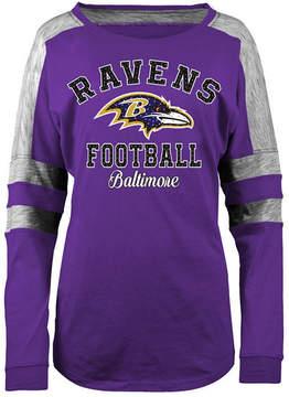 5th & Ocean Women's Baltimore Ravens Space Dye Long Sleeve T-Shirt