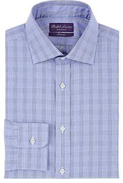 Ralph Lauren Purple Label Men's Plaid Cotton Poplin Dress Shirt