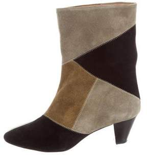 Etoile Isabel Marant Patchwork Ankle Boots