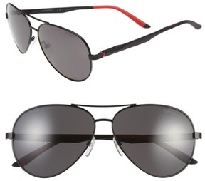 Carrera Men's Eyewear 59Mm Metal Aviator Sunglasses - Matte Black/ Grey