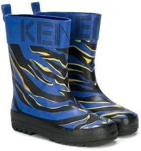 Kenzo tiger print rain boots