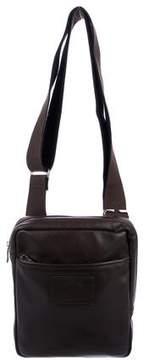 Longchamp Leather Zip Messenger Bag