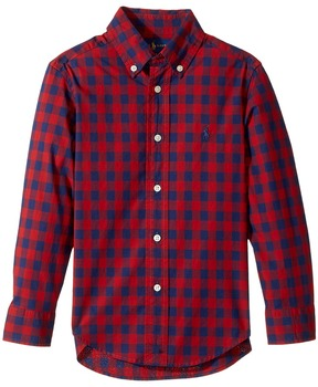 Polo Ralph Lauren Kids - Checked Cotton Poplin Shirt Boy's Clothing
