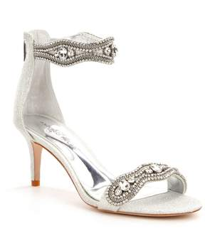 Antonio Melani Sadina Rhinestone-Embellished Ankle Strap Fabric Dress Sandals