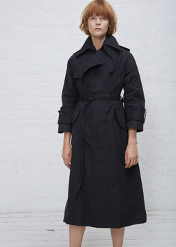 Facetasm Navy Paper Touch Trench Coat