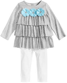 First Impressions 2-Pc. Ruffle Tunic & Leggings Set, Baby Girls, Created for Macy's