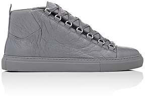 Balenciaga Men's Arena Leather Sneakers
