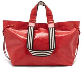 Isabel Marant Wardy Leather Shopper Bag - Womens - Red Multi