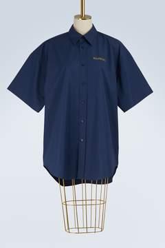 Balenciaga Short-sleeved poplin shirt
