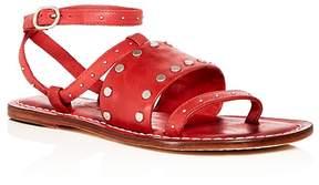 Bernardo Women's Studded Leather Ankle Strap Sandals