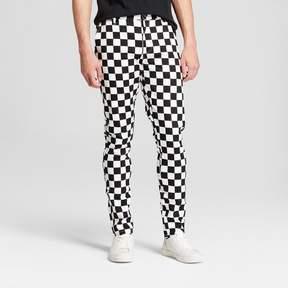 Jackson Men's Gingham Check Slim Tapered Pants Black/White