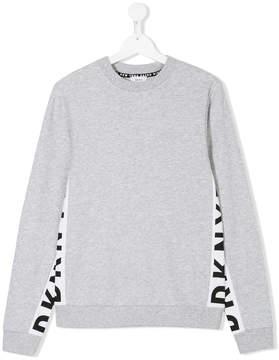 DKNY TEEN logo panel sweatshirt