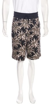 Dries Van Noten Palm Tree Print Jogger Shorts