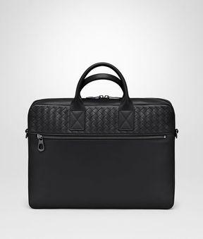 Bottega Veneta Nero Calf Medium Briefcase
