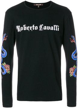 Roberto Cavalli long sleeved logo sweatshirt