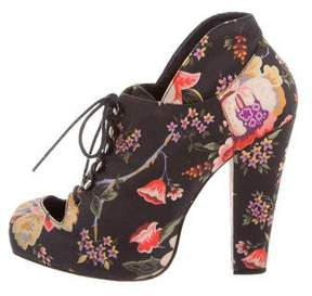 Opening Ceremony Rodarte x Floral Print Ankle Boots