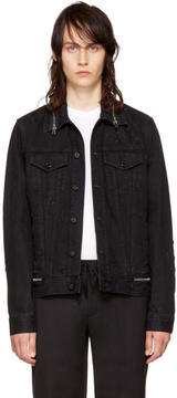 Givenchy Black Denim Zipper Jacket