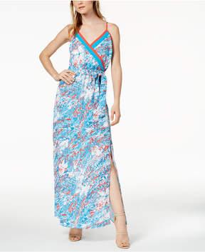 Bar III Printed Surplice Maxi Dress, Created for Macy's