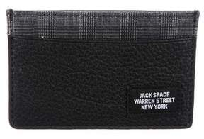 Jack Spade Plaid & Leather Cardholder w/ Tags