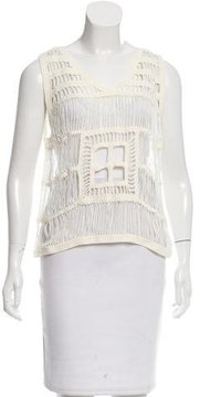 Boy By Band Of Outsiders Sleeveless Crocheted Top