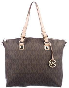MICHAEL Michael Kors Signature Canvas Satchel