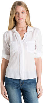Bella Dahl Split Back Button Down-White-XS