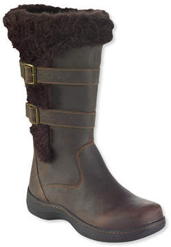 L.L. Bean Womens Insulated Nordic Casual Leather Boots, Waterproof