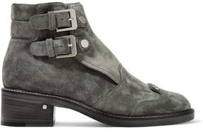 Laurence Dacade Praia Stud-embellished Suede Ankle Boots - Gray