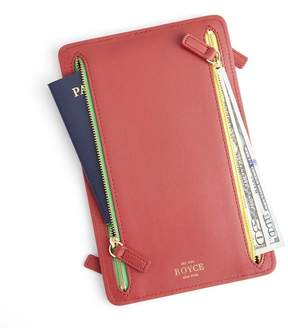 Royce Leather Royce Red RFID Blocking Four Zip Travel Case