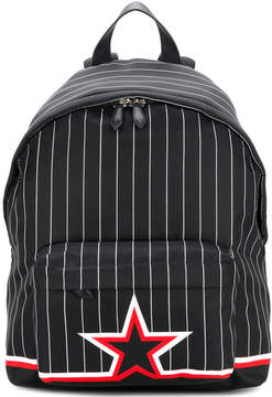 Givenchy striped star print backpack