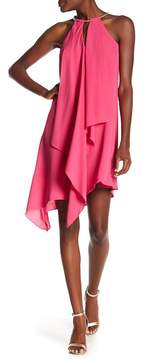 Kensie Asymmetrical Draped Keyhole Dress