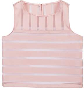 Milly ILLUSION-STRIPED SLEEVELESS TOP