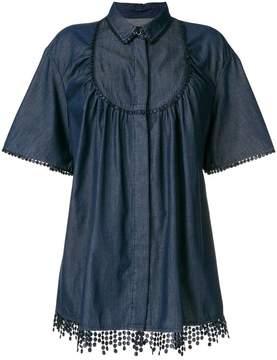 Blumarine embroidered trim blouse