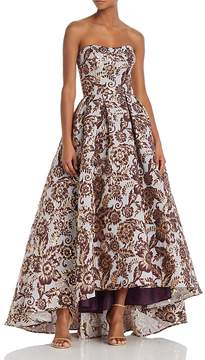 Aqua Strapless Brocade Ball Gown - 100% Exclusive