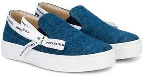 Ermanno Scervino logo bow denim sneakers