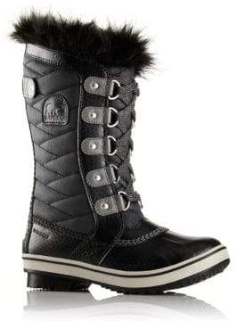 Sorel Kid's Tofino II Faux Fur-Cuff Quilted Snow Boots