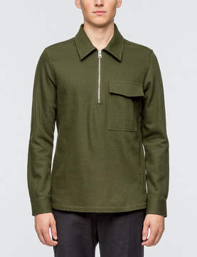 Ami Wide Fit Zipped Collar Shirt