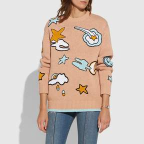 Coach New YorkCoach Outerspace Intarsia Sweater